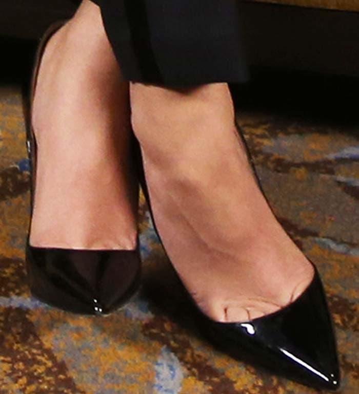 Zendaya's feet in Christian Louboutin pumps