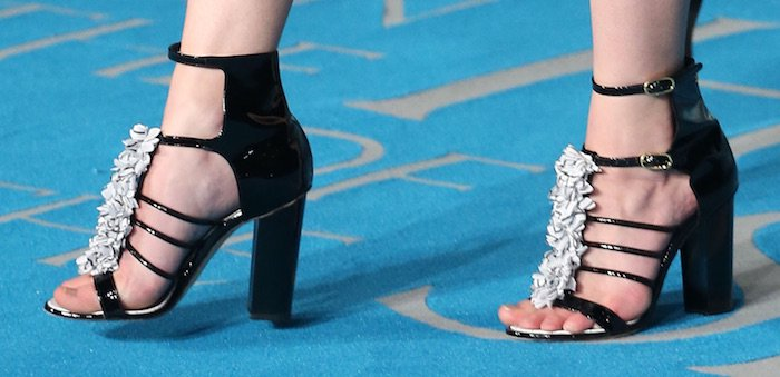 Kaya Scodelario's feet in Chanel sandals
