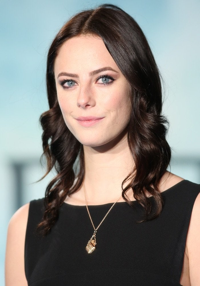 "Kaya Scodelario wears her hair down at the UK premiere of ""In the Heart of the Sea"" held December 2, 2015, at Leicester Square in London"