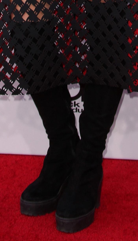 Tove Lo rocks chunky black over-the-knee boots