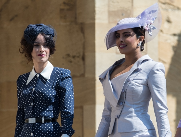 Abigail Spencer and Priyanka Chopra attend the wedding of Prince Harry and Meghan Markle