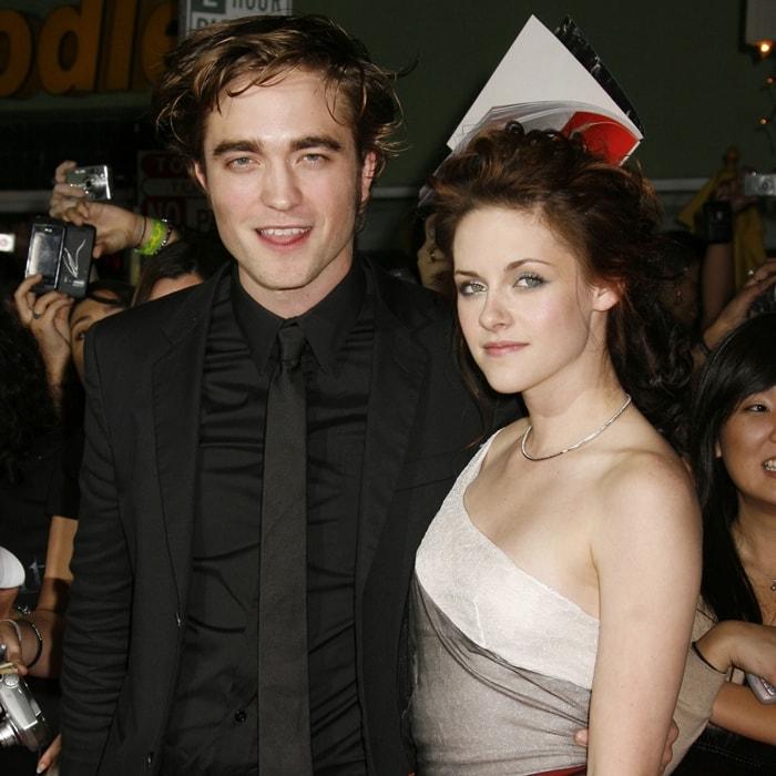 Actor Robert Pattinson and actress Kristen Stewart