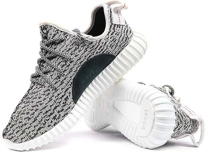 Yeezy Boost 350 Sneakers in Grey White