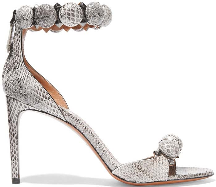 Alaia Embellished Sandals Snake