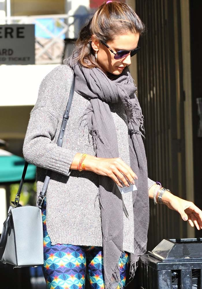 Alessandra Ambrosio leaving after a yoga class in Brentwood
