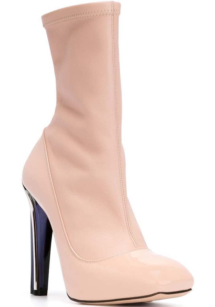 Nude Alexander McQueen Plexi Pump-style Boots
