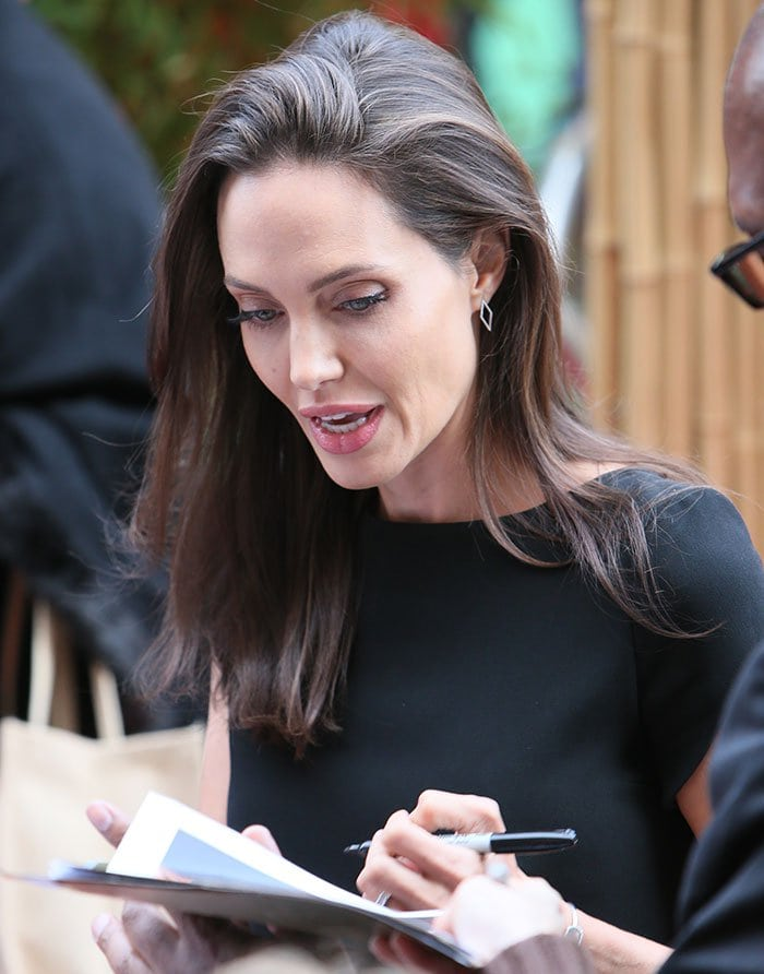 """Angelina Jolie at the world premiere of """"Kung Fu Panda 3"""" held at the TCL Chinese Theatre in Los Angeles on January 16, 2016"""