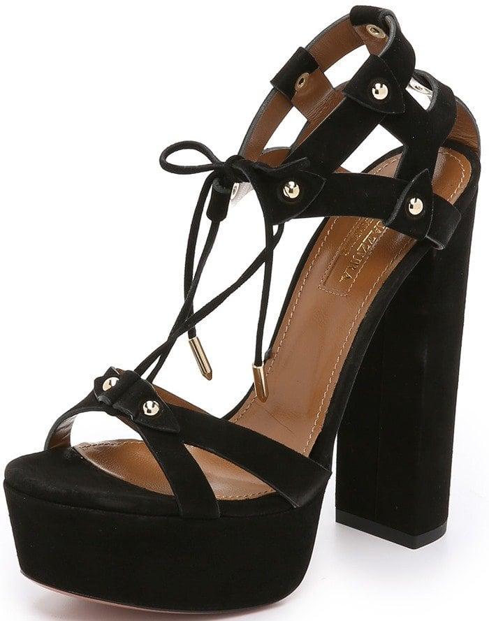 Aquazzura Bel Air Plateau Sandals
