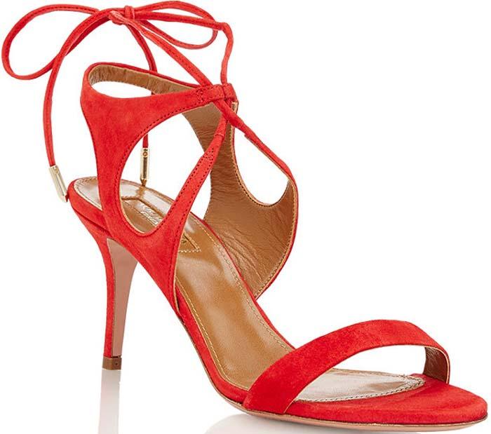 """Aquazzura """"Colette"""" Ankle-Tie Sandals"""