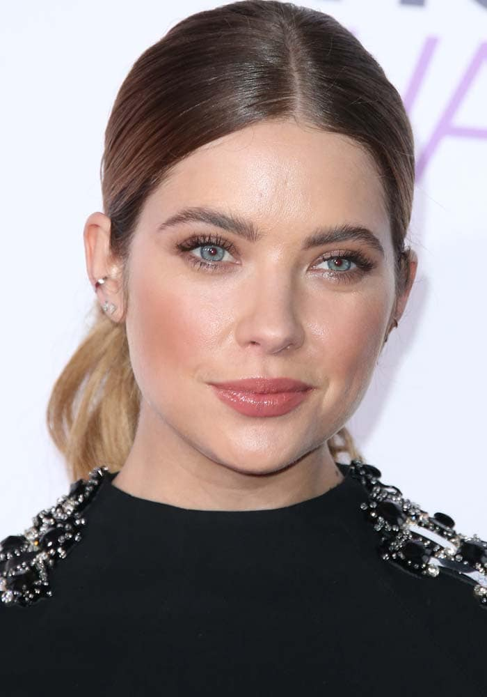 Ashley Benson slicks her hair back for People's Choice Awards