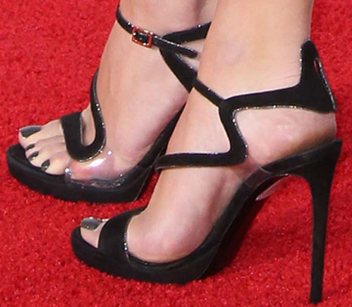 Ashley Benson's feet in Nicholas Kirkwood sandals