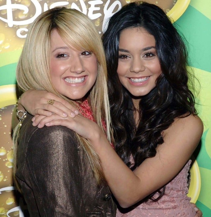 """Ashley Tisdale and Vanessa Hudgens during Breakfast with the Cast and Crew of """"High School Musical"""""""
