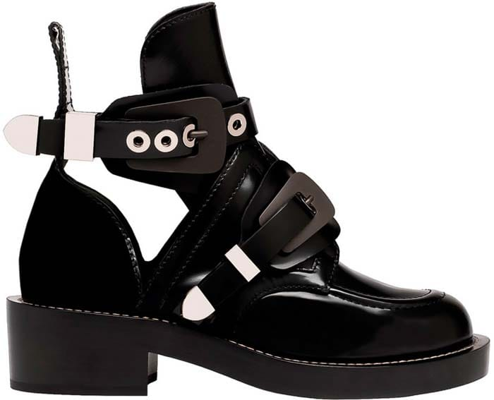 Balenciaga 'Ceinture' Ankle Boots in Black