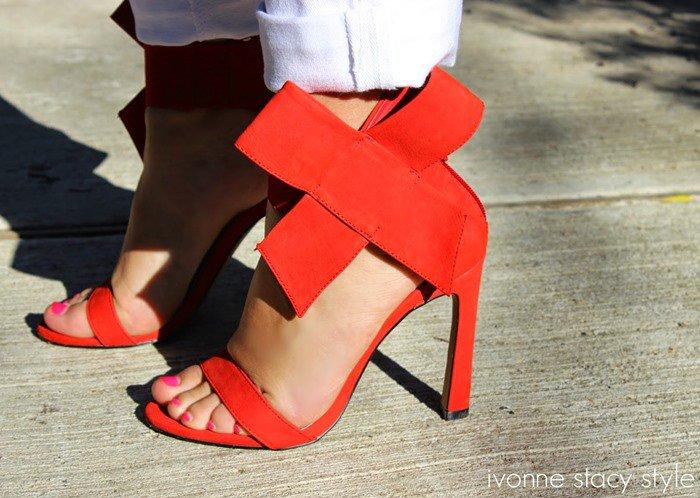 Betsey Johnson Friskyy Sandal Red