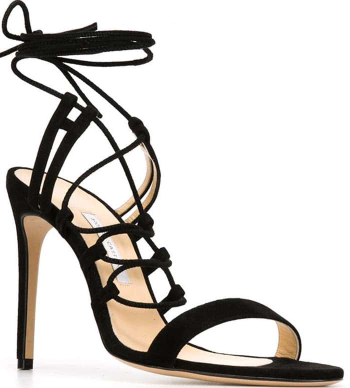 Black Bionda Castana Viola Lace-Up Sandals