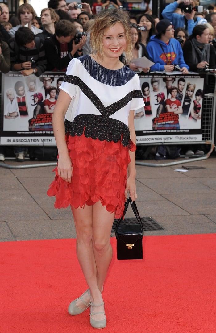 Brie Larson attends the European premiere of 'Scott Pilgrim vs The World'