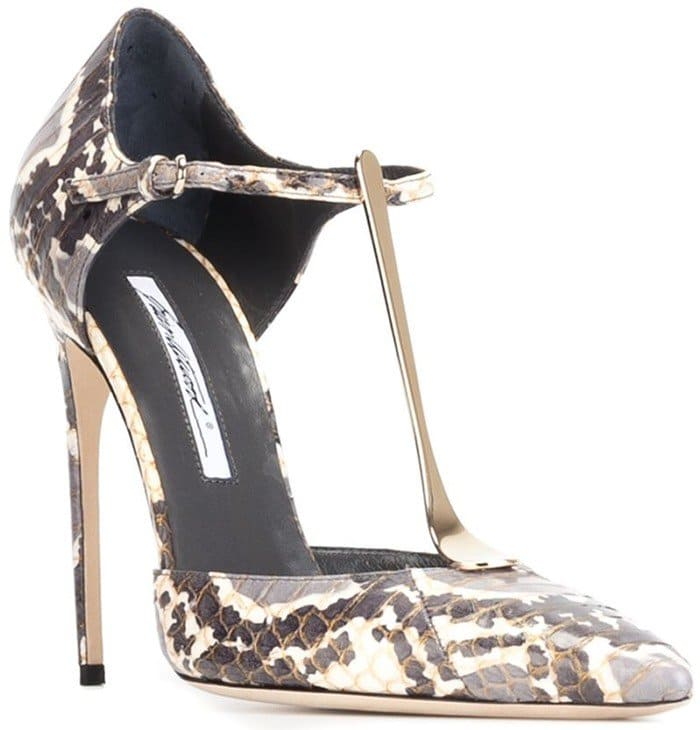 Brian Atwood 'Astral' pumps gray leather