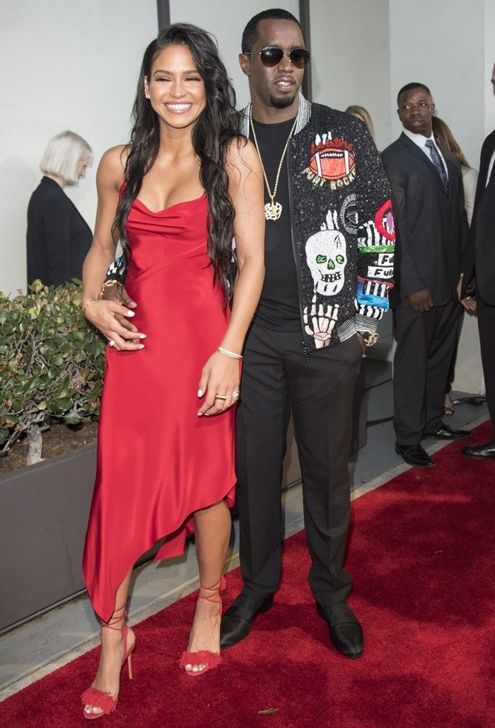 """Sean """"Diddy"""" Combs and his girlfriend Cassie at the premiere of his documentary Can't Stop Won't Stop: The Bad Boy Story"""