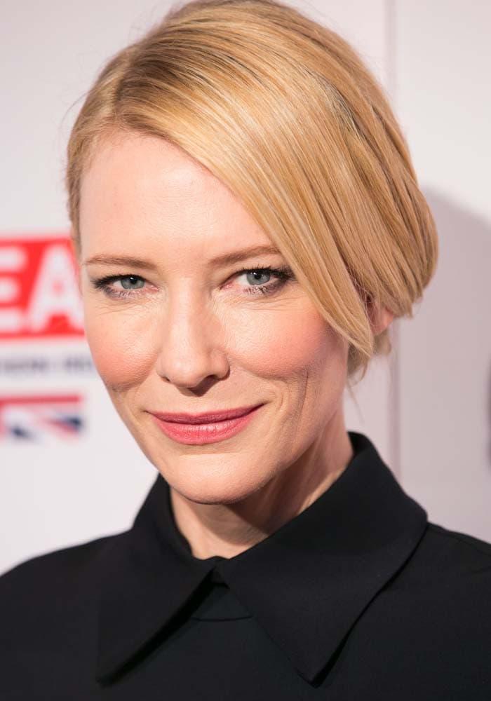 Cate Blanchett wears her blonde hair back at the BAFTA Los Angeles Awards Season Tea