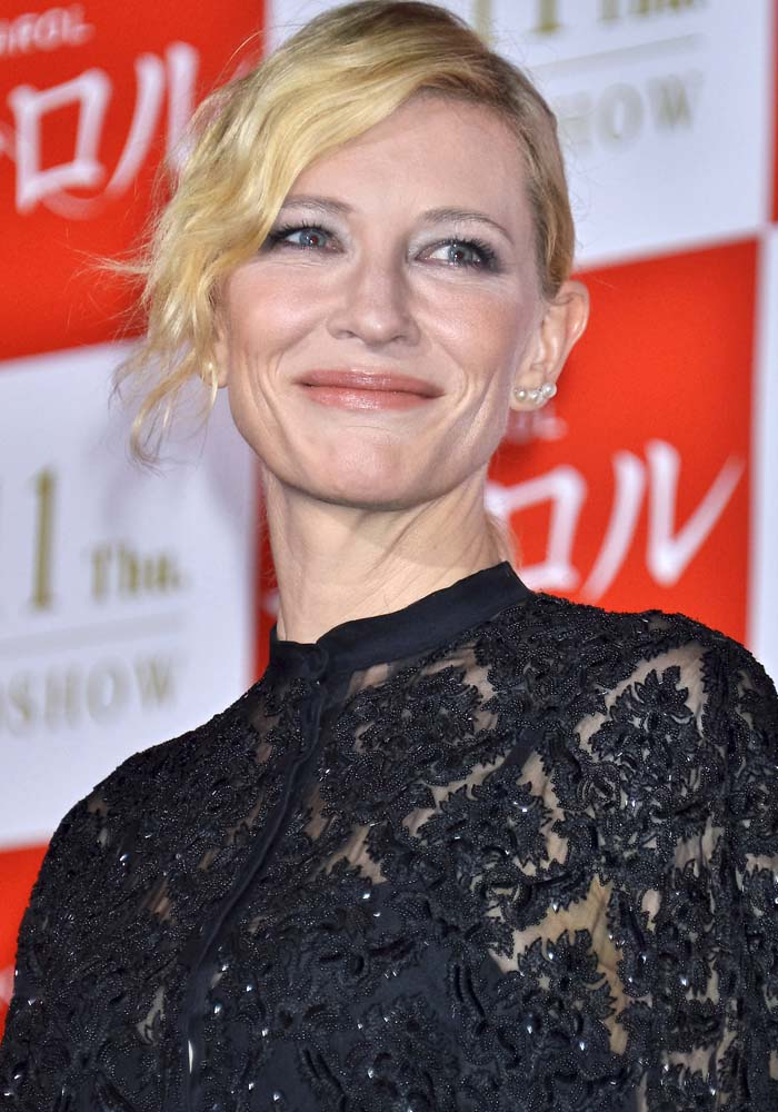 """Cate Blanchett wears her hair back as she attends the stage greeting for """"Carol"""""""