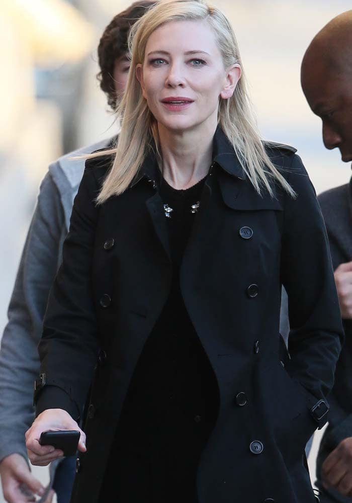Cate Blanchett Jimmy Kimmel Casadei 1