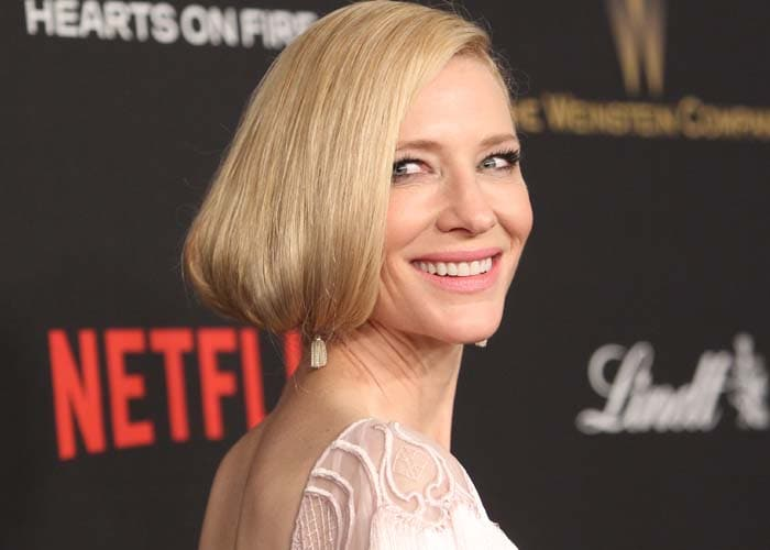 Cate Blanchett wears her blonde hair in a faux bob at the Golden Globes and Weinstein Company and Netflix 2016 After Party