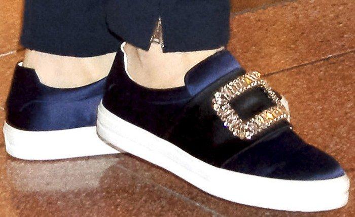 Cate Blanchett wears Sneaky Viv embellished sneakers