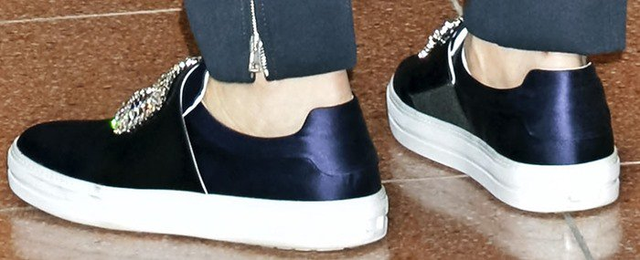 Cate Blanchett's feet in Roger Vivier sneakers