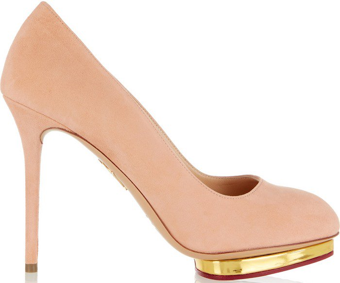 Charlotte Olympia's signature 'Dotty' pumps are part of the label's 'Encore' collection