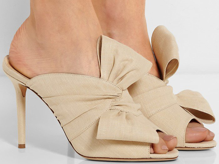 Charlotte Olympia's 'Ilona' mules showcase her continuing admiration for old Hollywood glamour