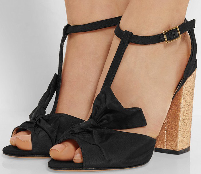 Charlotte Olympia Odelle bow-embellished faille sandal