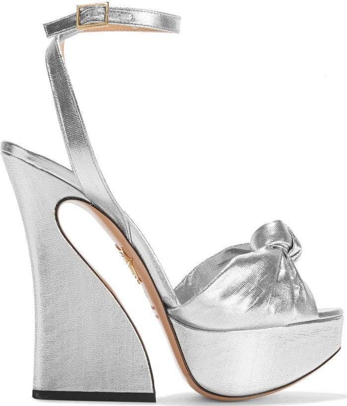 Charlotte Olympia Vreeland lame platform sandals