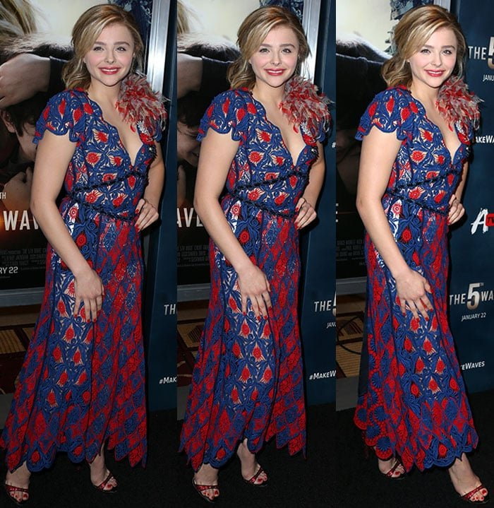 Chloe Grace Moretz wears an unflattering Marc Jacobs dress