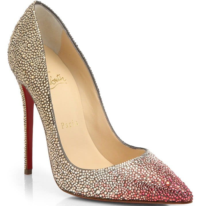 Christian Louboutin Pigalle Ombre Crystal Pumps
