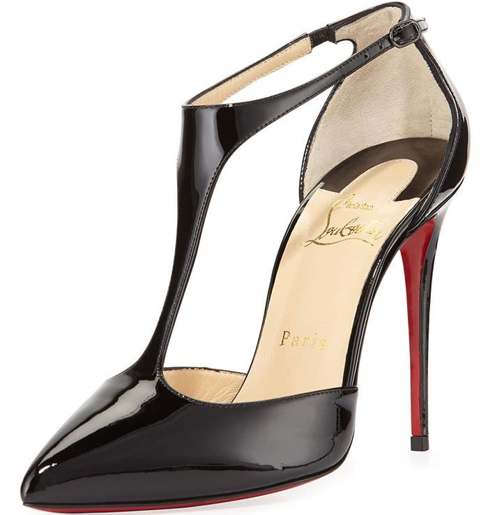 Christian Louboutin Black J String Patent Pumps