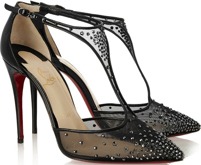 Christian Louboutin's sparkling 'Salopatina 100' pumps are perfect for parties and events