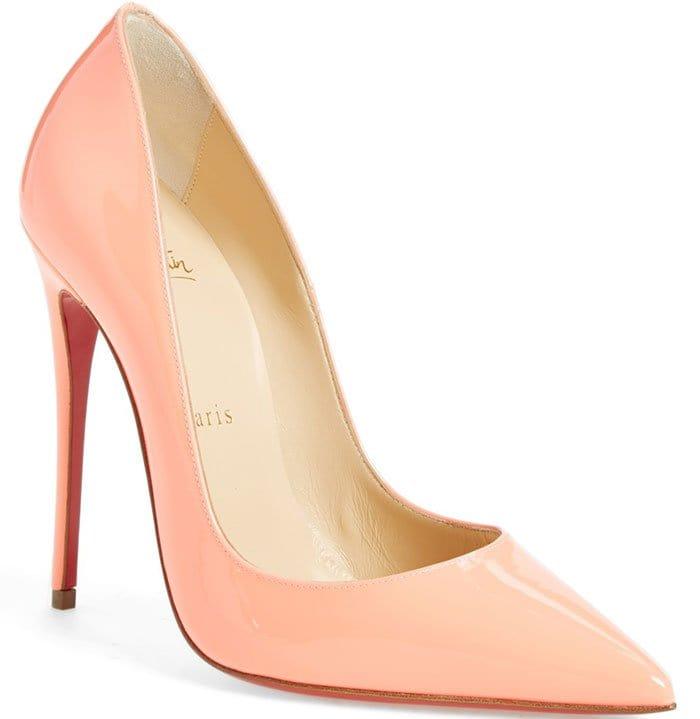 Christian Louboutin So Kate Pumps Flamingo Patent