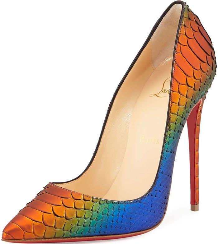 Christian Louboutin So Kate Python Pumps Multicolored