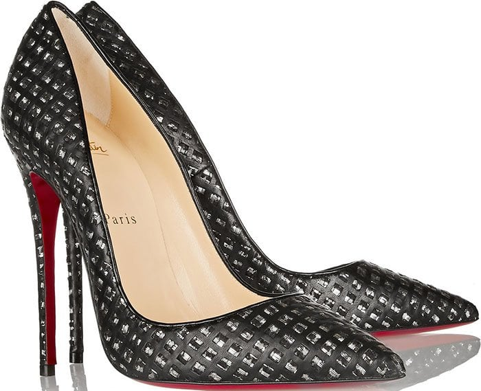Christian-Louboutin-So-Kate-cutout-leather-tweed-pumps