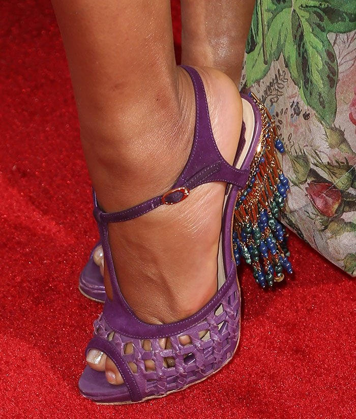 Christina-Milian-purple-Dior-chandelier-heels-1