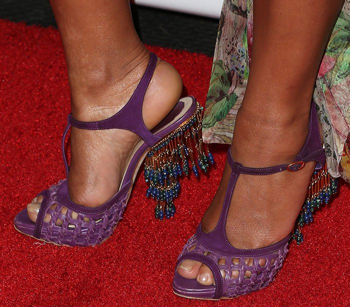 Christina Milian Disappoints In Dior Chandelier Heels