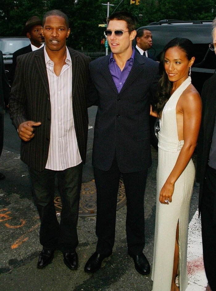 Tom Cruise, Jamie Foxx, and Jada Pinkett Smith star in Collateral, a 2004 American neo-noir action thriller film based on a script by Stuart Beattie