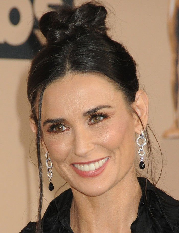 Demi Moore Throws Vintage Vibe In Zac Posen And Christian