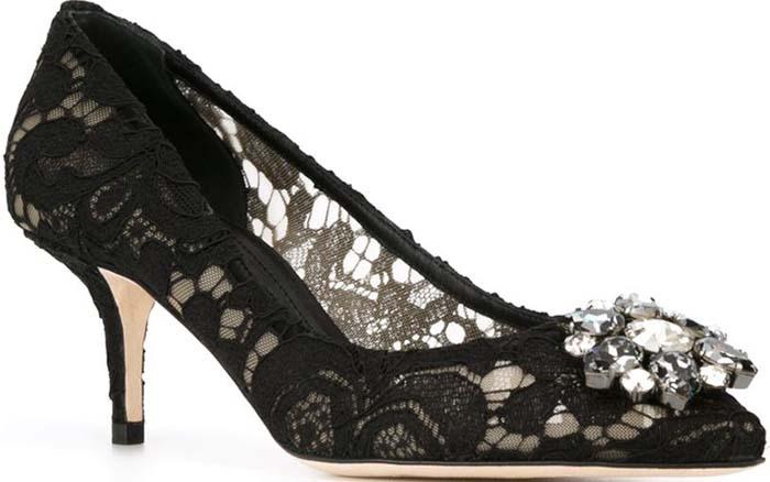 Dolce Gabbana Floral Lace Pump 1