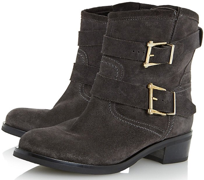 Dune Philee Buckle Detail Ankle Boots