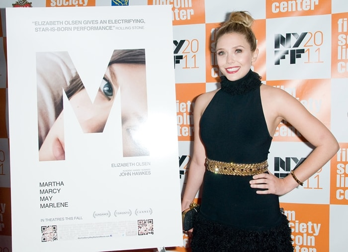 """Elizabeth Olsen attends the 49th annual New York Film Festival presentation of """"Martha Marcy May Marlene"""""""