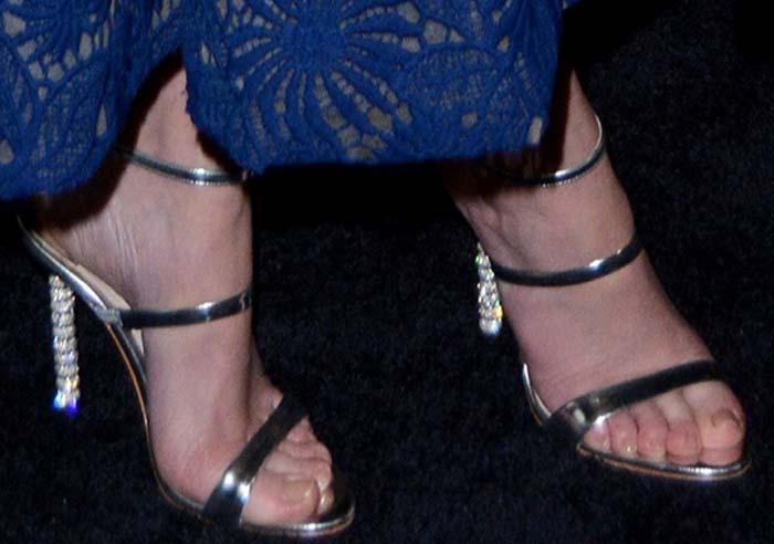 Emily Blunt's feet in Sophia Webster heels