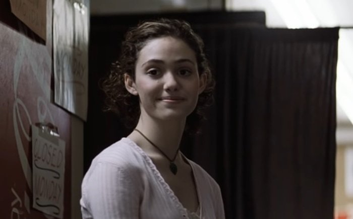 """Emmy Rossum portrayed James """"Jimmy"""" Markum's ill-fated daughter in Mystic River"""