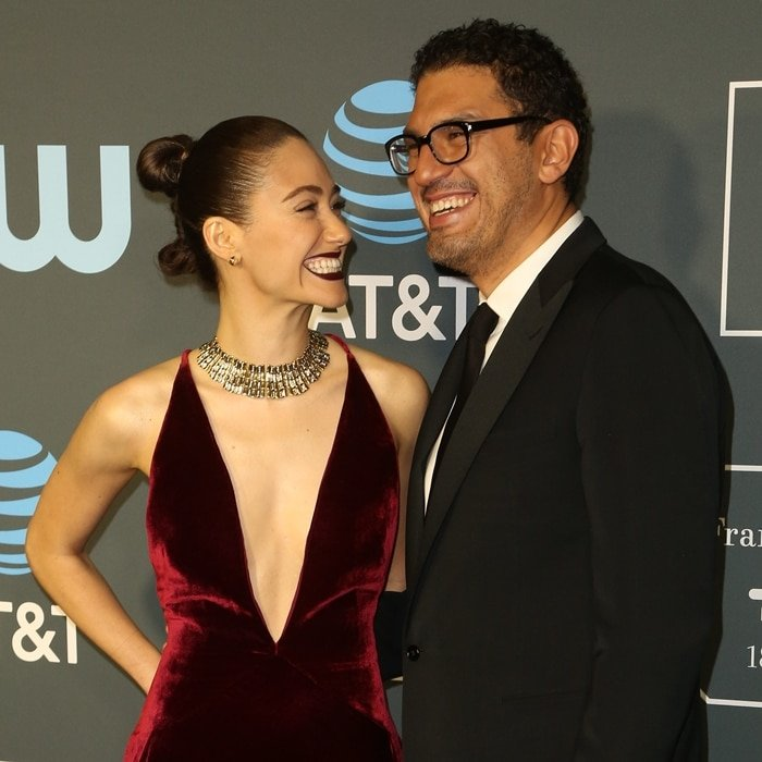 Emmy Rossum is significantly shorter than her tall husband Sam Esmail