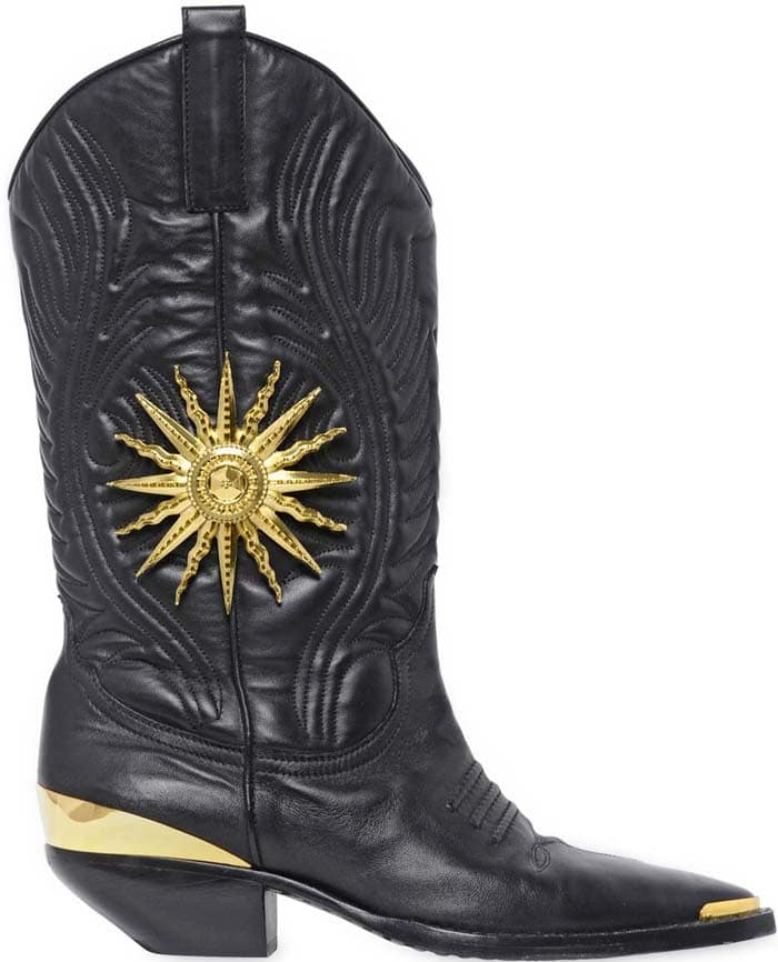 Fausto Puglisi Embossed Cowboy Boots